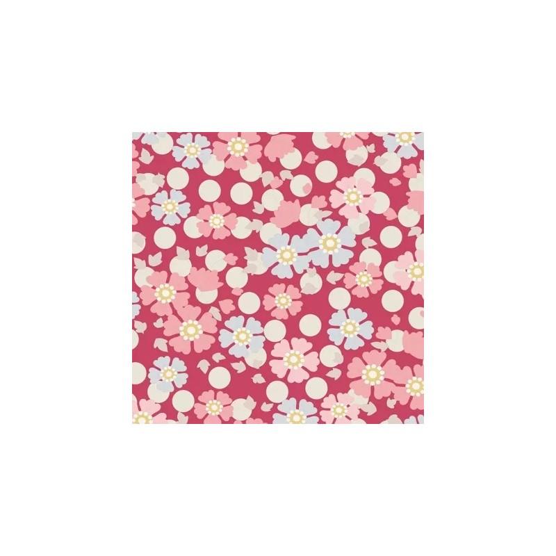 Windflower Red - coupon 50x55cm - tissu Tilda