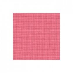 Toile Lugana Zweigart 10fils/cm - 50x70cm - rose foncé