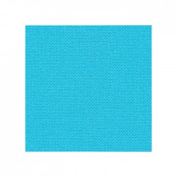 Toile Lugana Zweigart 10fils/cm - 50x70cm - turquoise