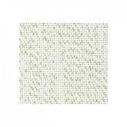Toile Bellana Zweigart 8fils/cm - largeur 140cm - blanc pailleté doré