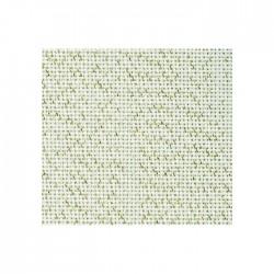 Toile Bellana Zweigart 8fils/cm - largeur 140cm - écru pailleté doré