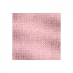 Bellana Zweigart 8 fils/cm - largeur 140cm - rose camay