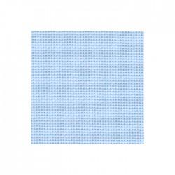 Toile Bellana Zweigart 8fils/cm - largeur 140cm - bleu pastel