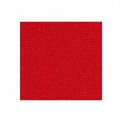 Bellana Zweigart 8 fils/cm - largeur 140cm - rouge