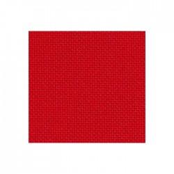 Toile Bellana Zweigart 8fils/cm - largeur 140cm - rouge