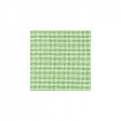 Toile Bellana Zweigart 8fils/cm - 35x45cm - vert doux