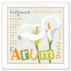 L'arum - Lilipoints - semi-kit diagramme+fils