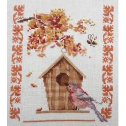 Le nichoir en automne - Au fil de Martine