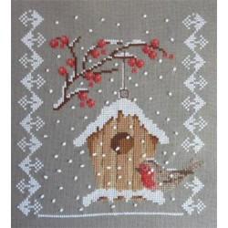 Le nichoir en hiver - Au fil de Martine