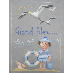 Grand bleu - Au fil de Martine