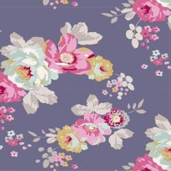 Pauline Blueberry - coupon 50x55cm - tissu Tilda