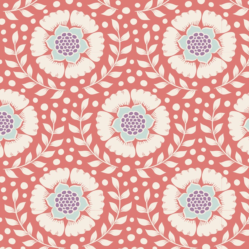 Wheatflower Rosehip - coupon 50x55cm - tissu Tilda
