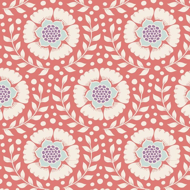 Wheatflower Rosehip - coupon 50x110cm - tissu Tilda