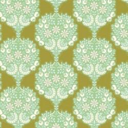 Flower Tree Green - coupon 50x110cm - tissu Tilda