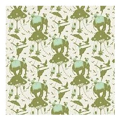 Circus Life Green - coupon 50x110cm - tissu Tilda