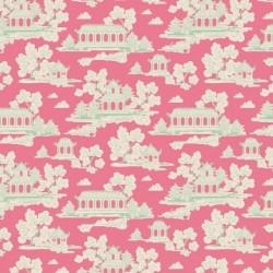 Sunny Park Pink - coupon 35x50cm - tissu Tilda