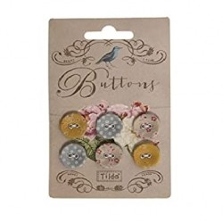 Carte de 6 boutons - Happiness is Homemade - Tilda
