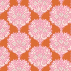 Flower Tree Ginger - coupon 50x55cm - tissu Tilda