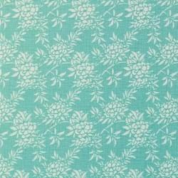 Flower Bush Teal - coupon 50x110cm - tissu Tilda