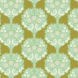 Flower Tree Green - coupon 50x55cm - tissu Tilda