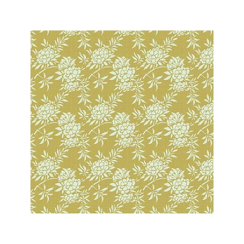 Flower Bush Green - coupon 50x55cm - tissu Tilda