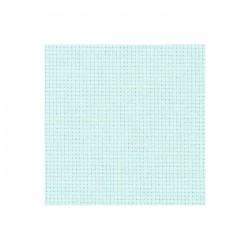 Toile Aïda Zweigart 5,4fils/cm - largeur 110cm - bleu pâle