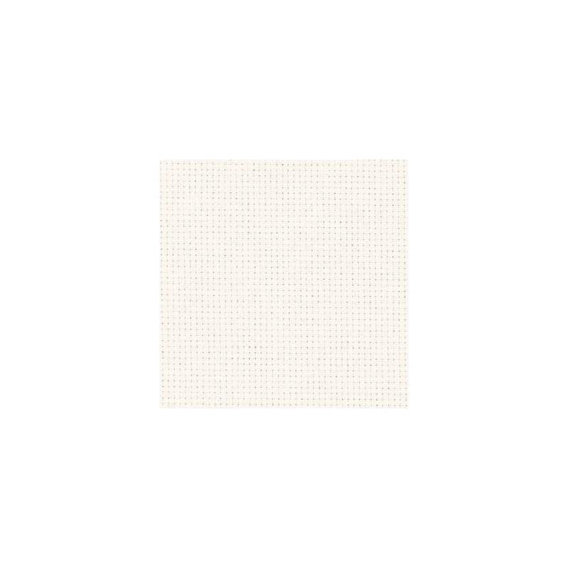 Aïda Zweigart 5,4pts/cm - 50x55cm - blanc cassé