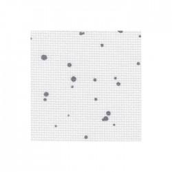 Aïda Zweigart 5,4pts/cm - 50x55cm - blanc à tâches gris anthracite