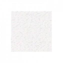 Lin Zweigart Belfast 12,6fils/cm - largeur 140cm - blanc pailleté irisé