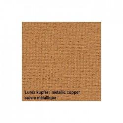 Lin Zweigart Belfast 12,6fils/cm - largeur 140cm - cuivre pailleté