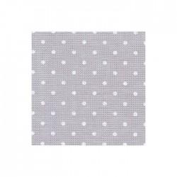 Lin Zweigart Belfast 12,6fils/cm - largeur 140cm - gris à petits points blancs