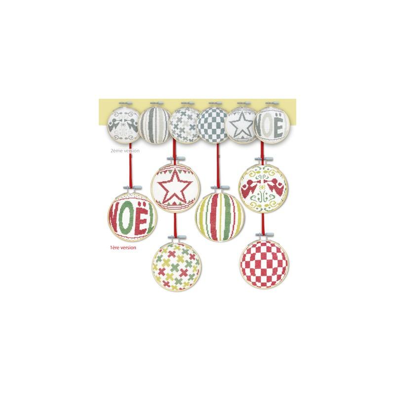 Les boules de Noël 4 - Lilipoints - pack complet