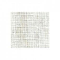 Lin Zweigart Belfast 12,6fils/cm - largeur 140cm - blanc marbré beige