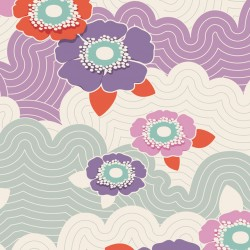 Frances Lilac - coupon 50x110cm - tissu Tilda