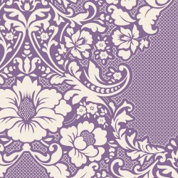 Eleanore Lilac - coupon 50x110cm - tissu Tilda