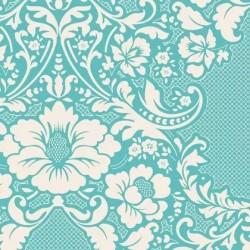 Eleanore Teal - coupon 50x110cm - tissu Tilda