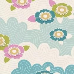 Frances Teal - coupon 50x110cm - tissu Tilda