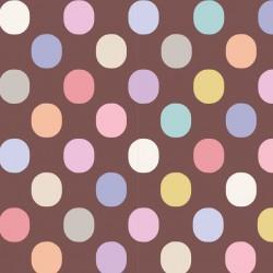 Plum Dot Nutmeg - coupon 50x110cm - tissu Tilda