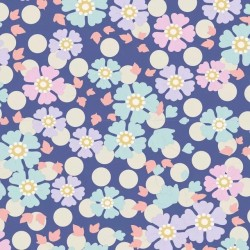 Windflower BLueberry - coupon 50x110cm - tissu Tilda