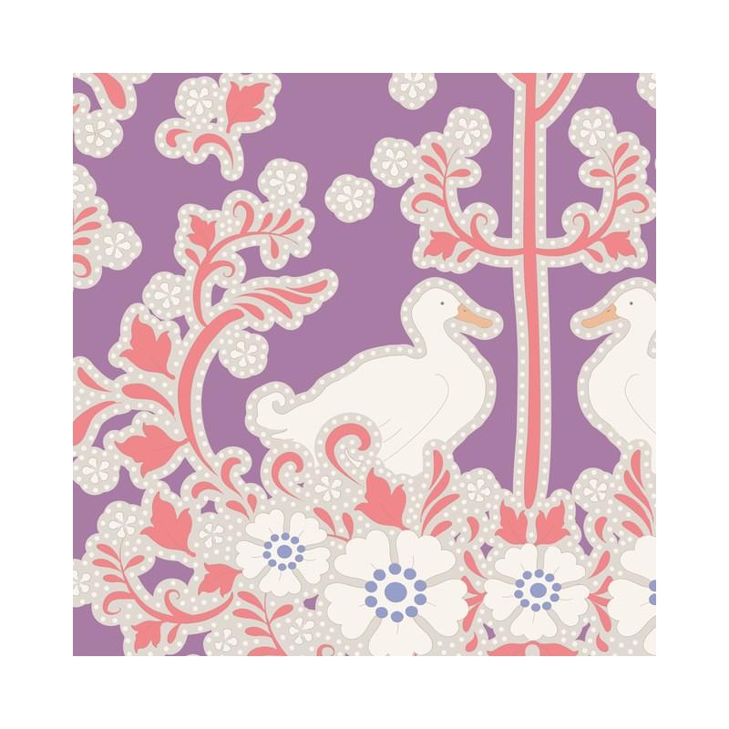 Duck Nest Plum - coupon 50x110cm - tissu Tilda