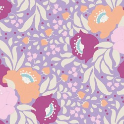 Autumn Bouquet Lavender - coupon 50x110cm - tissu Tilda
