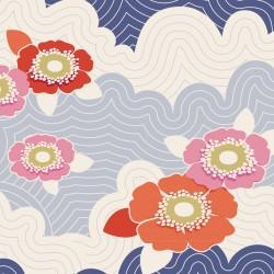 Frances Blue - coupon 50x110cm - tissu Tilda
