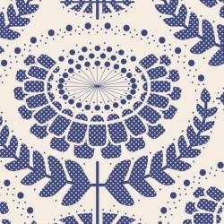 Phoebe Blue - coupon 50x110cm - tissu Tilda