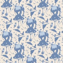 Circus Life Blue - coupon 50x110cm - tissu Tilda