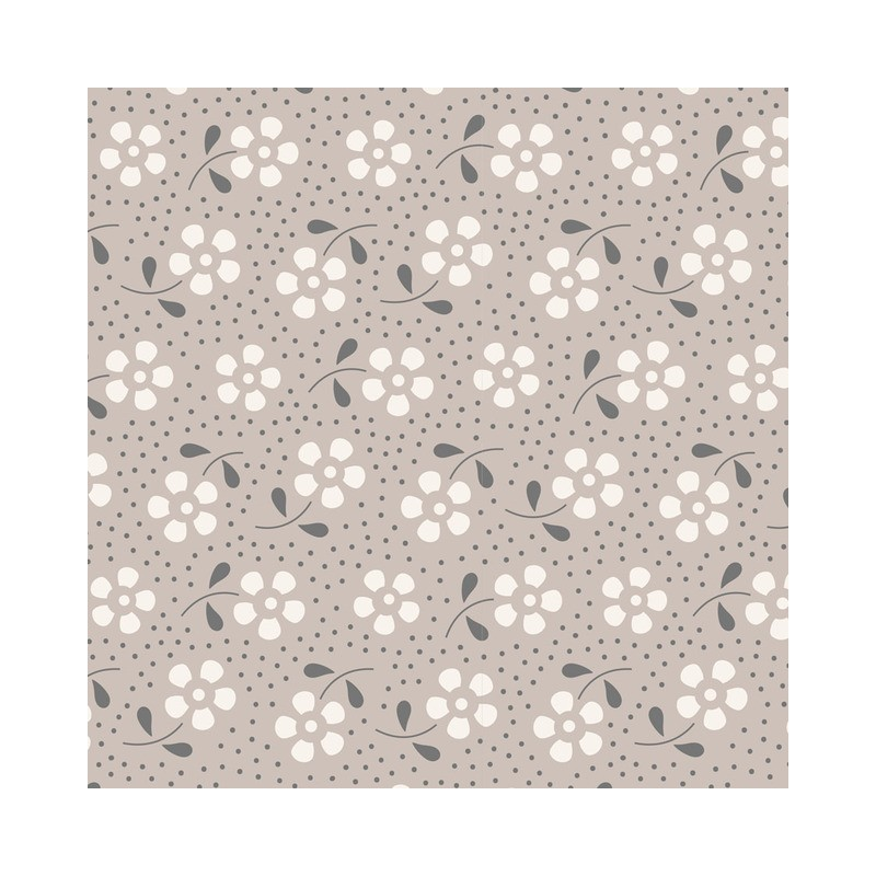 Meadow Grey - coupon 50x55cm - tissu Tilda