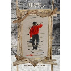 Pêcheur au pull rouge - Isabelle Haccourt Vautier