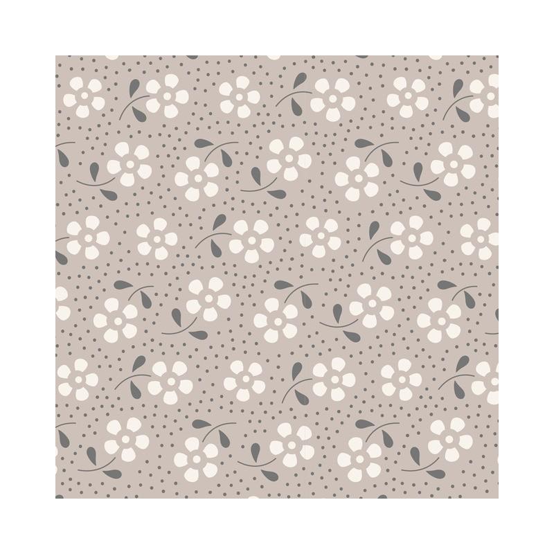 Meadow Grey - au mètre - laize 110cm - tissu Tilda