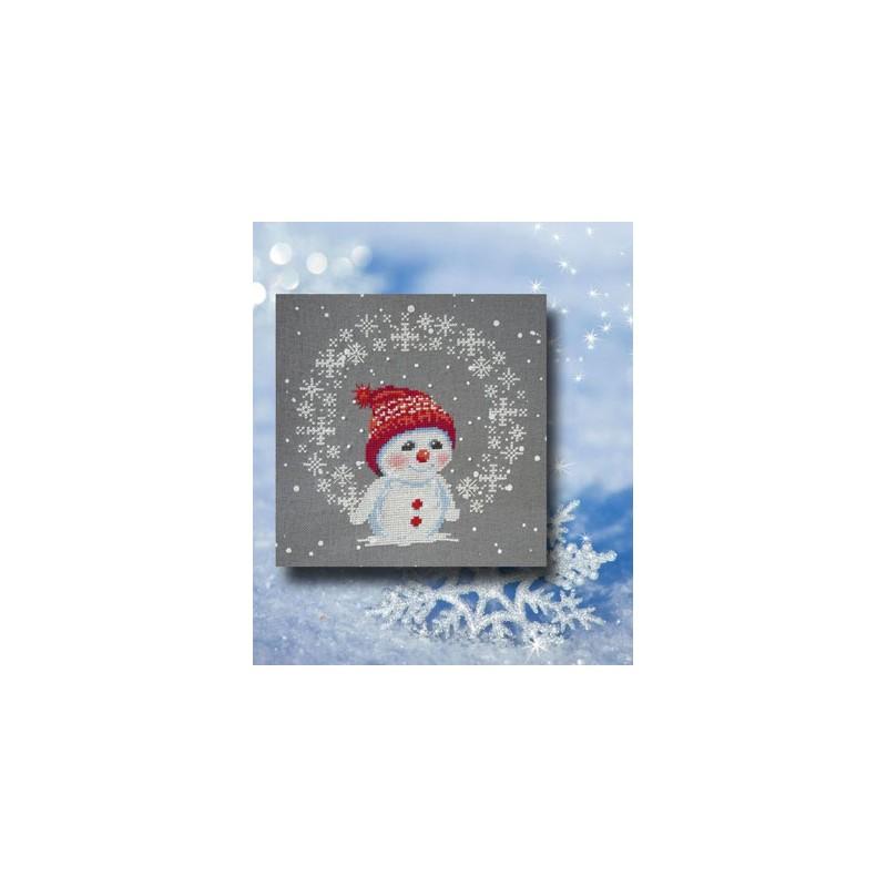 Les flocons de Snowman - Au fil de Martine