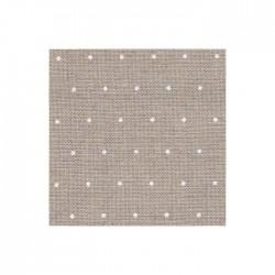 Lin Zweigart Edinburgh 14fils/cm - largeur 140cm - lin naturel à mini points blancs