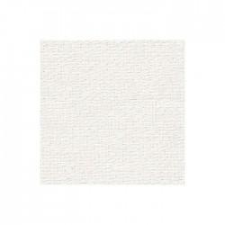 Lin Zweigart Edinburgh 14fils/cm - largeur 140cm - blanc pailleté irisé